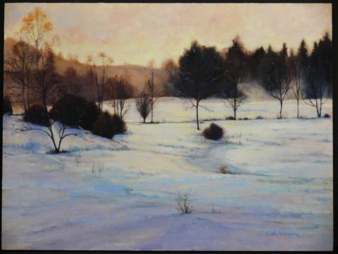 Snow Field 18 x 24 oil