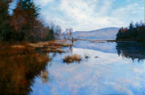 Bridgeton Pond 20 x 30 oil