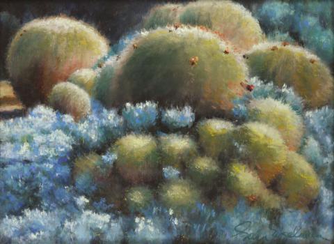 Cactus 9 x 12 pastel