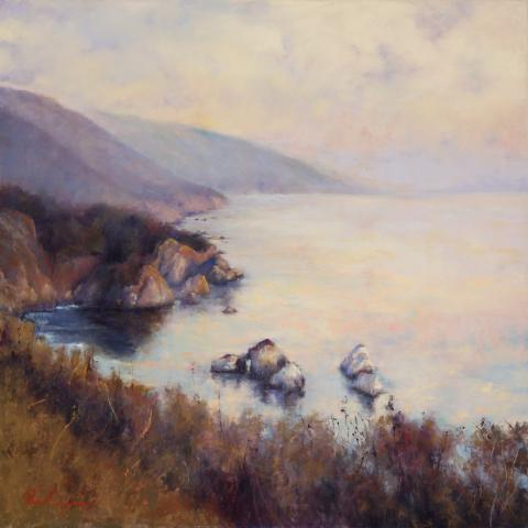 California Coastal 30x30 pastel