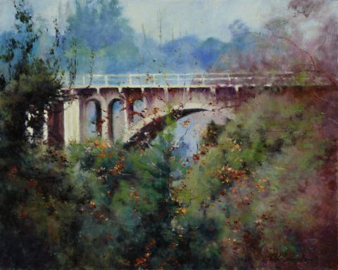 Colorado Street Bridge 16 x 20 oil