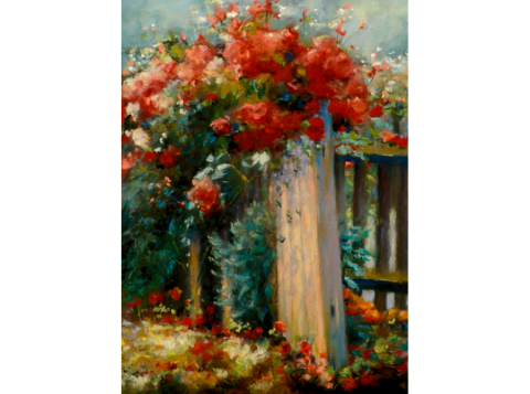 Crimson Roses 9 x 12 pastel