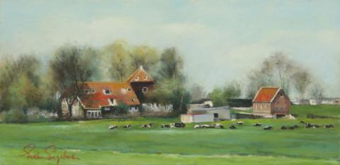 Dutch Country 8 x 16 pastel