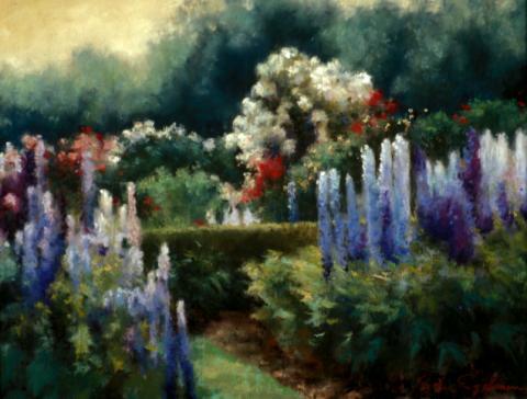 English Garden 14 x 18 pastel