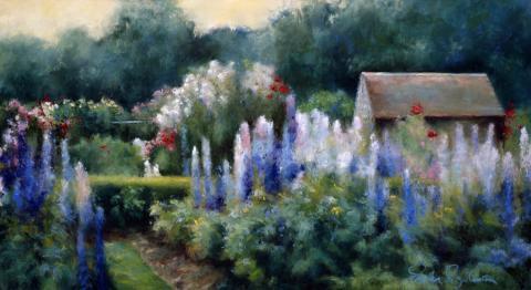 English Garden 12 x 22 pastel