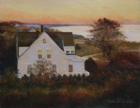 Golden Sunrise - Watch Hill 14 x 18 pastel