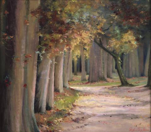 Loire Woods 20 x 24 pastel