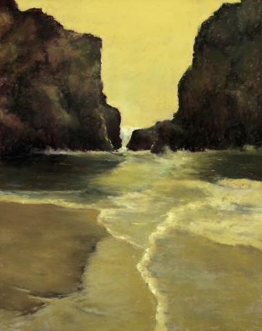 Ocean Motion 18x14 pastel
