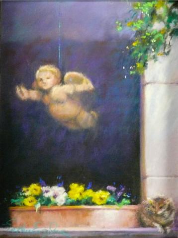Orvieto Cupid 9 x 12 pastel