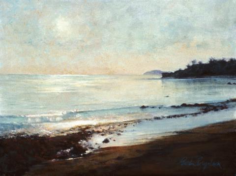 Quiet Shore 12 x 16 oil