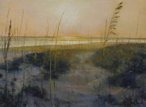 Reeds 9 x 12 pastel