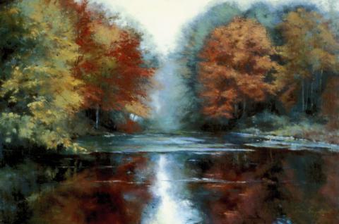 Seco River pastel