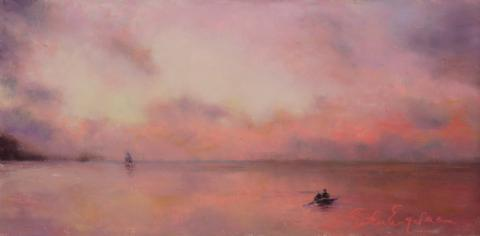 Sky Pink 6 x 12 pastel
