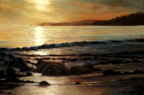 Sundown Malibu 20 x 30 pastel