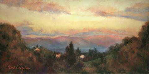 Sunrise 6 x 15 pastel