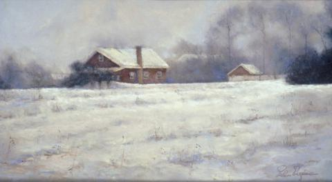 Vermont Farmhouse 12 x 22 pastel
