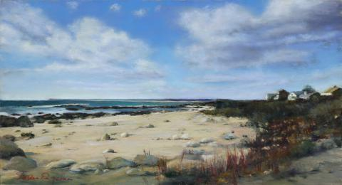 Watch Hill Beach 13 x 21 pastel