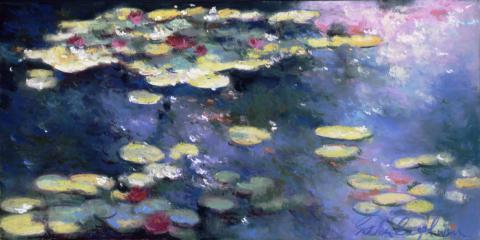 Water Lillies 8 x 16 pastel