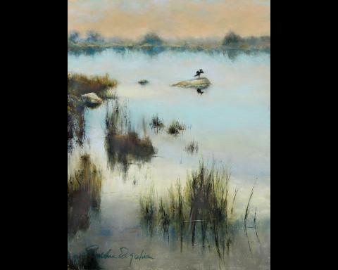 Weekapaug Marsh 12 x 9 pastel