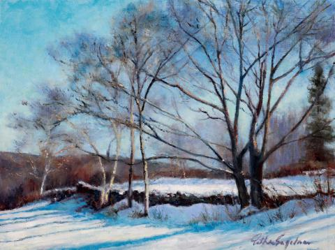 Winter Coat 9 x 12 oil