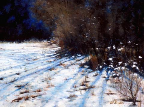 Winter Sun & Snow 18 x 24 oil
