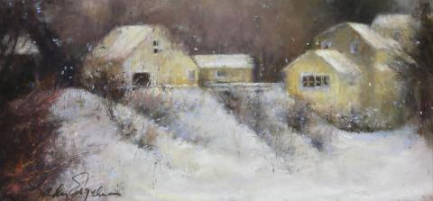 Winter Season 6 x 12 pastel