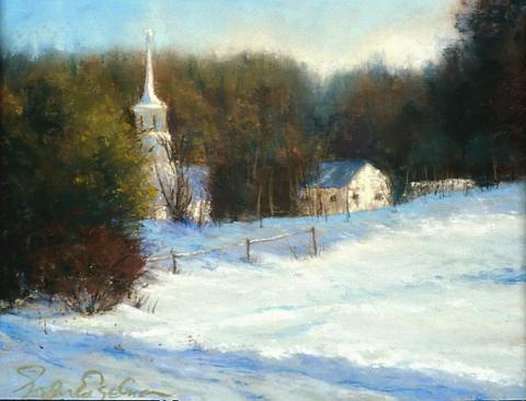Winter Sun - West Dover 8 x 10 pastel