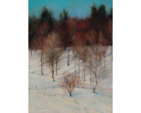 Blue Winter 24 x 18 pastel