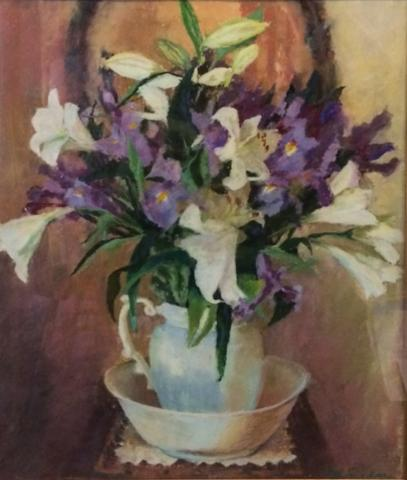 Lilies and Irises 23 x 20 pastel